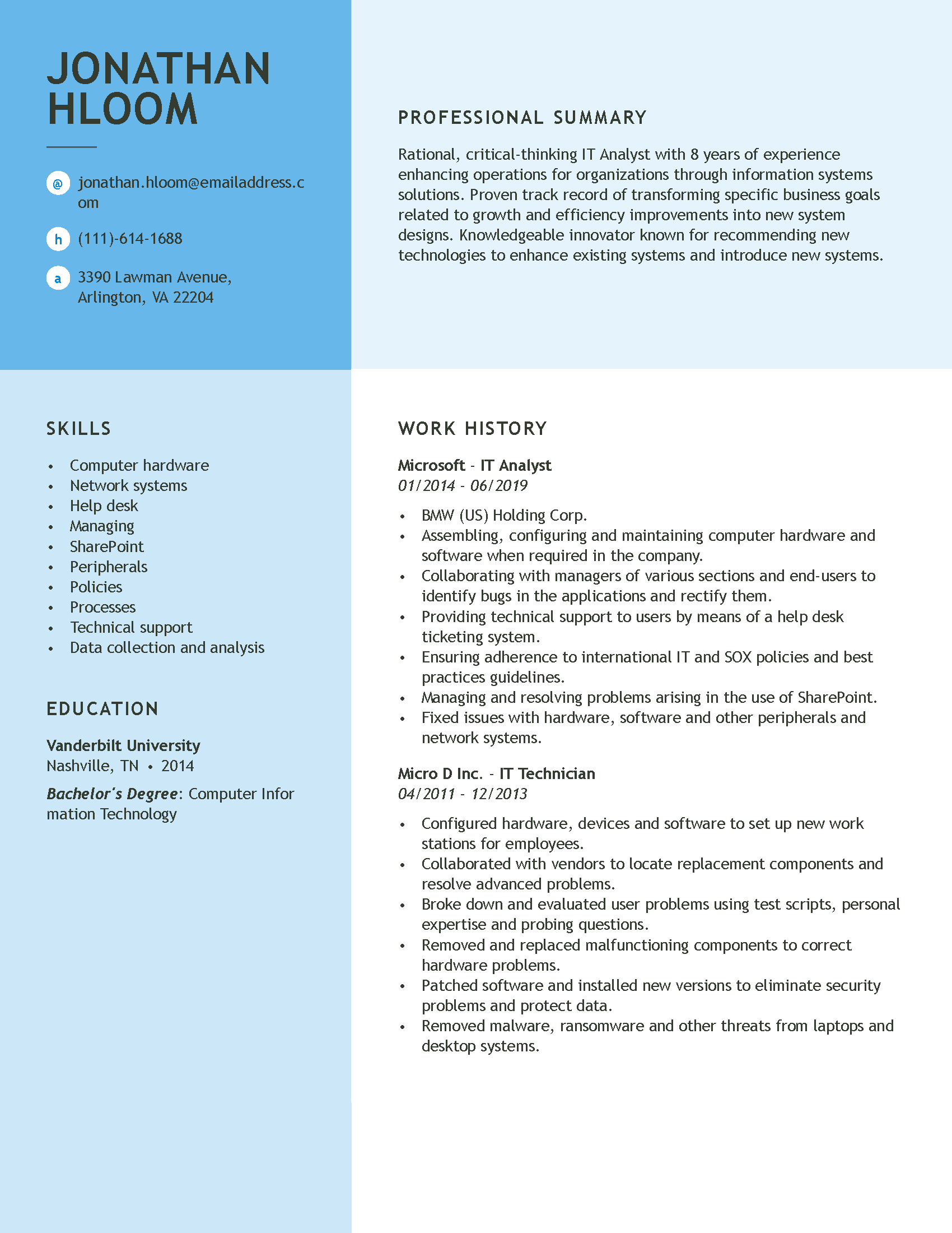 professional resume examples  our most popular resumes in one place