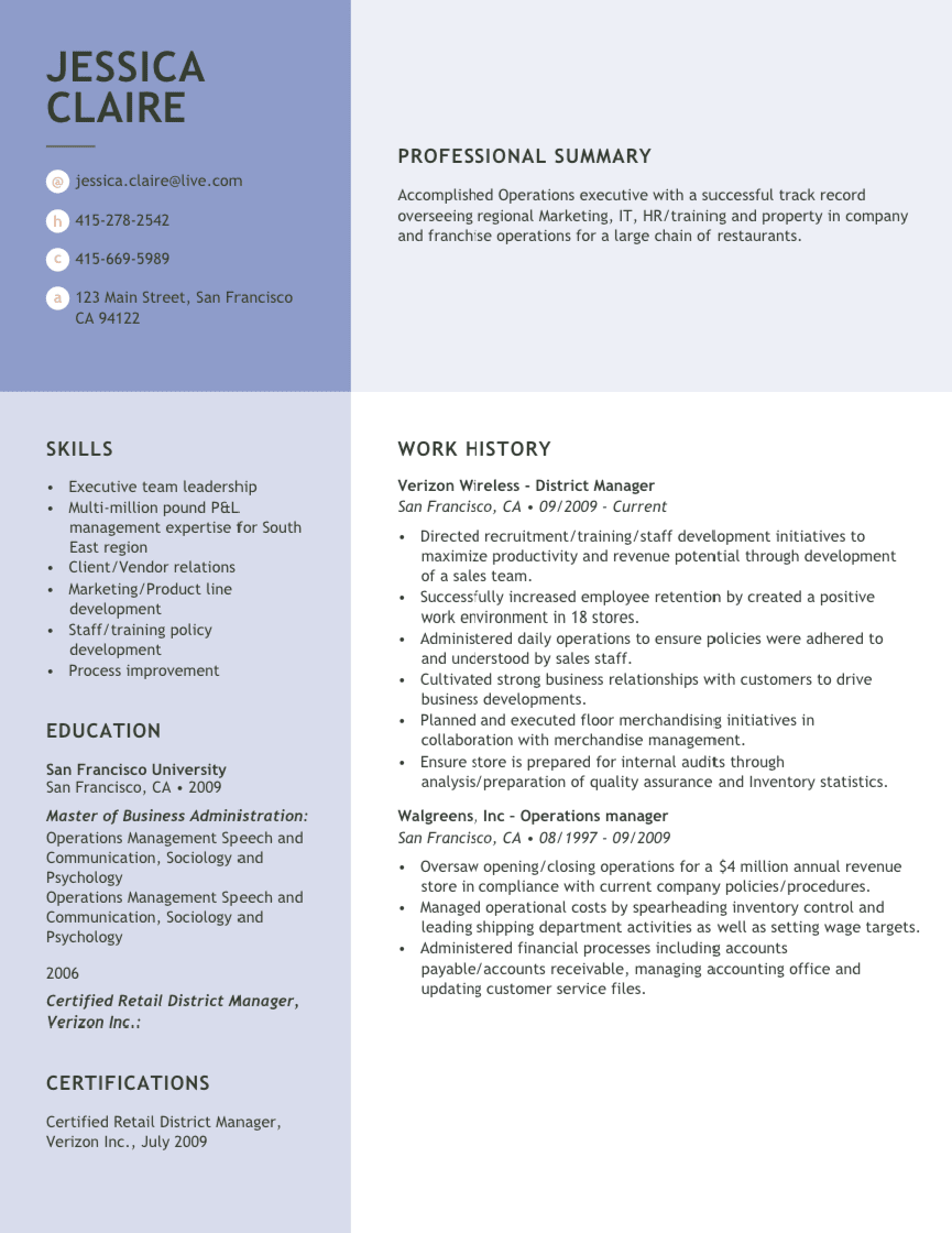 Great Sample Resume Free Resume Writing Resources And Support